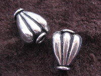Metal bead, large, small leaf, 12x10mm, 1 pcs