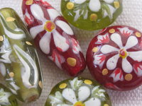 Handpainted glass beads
