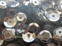 Sequin, cup, 6mm, silver, 500 pcs