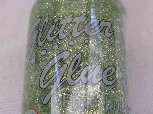 Glitter glue - kimalleliima, lime, 20ml