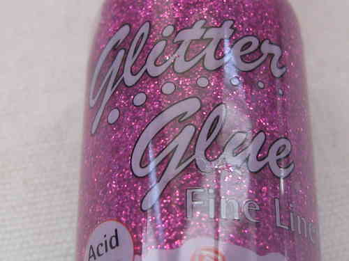 Glitter glue - kimalleliima, hot pink, 20ml