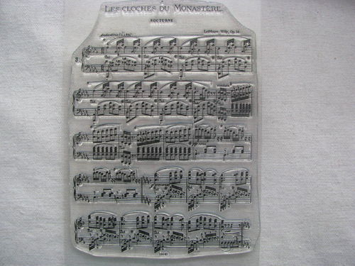 WOW embossing stamp, French Music, 1 pcs