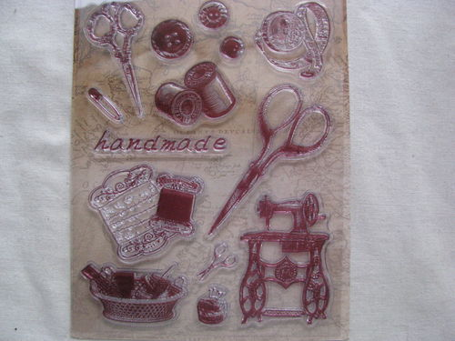 Rayher Vintage stamp, sewing items, 1 set