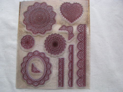 Rayher Vintage stamp, lace, 1 set