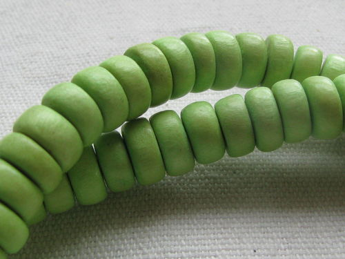 Puu Pokalet, 8x3mm, lime, n. 97 kpl