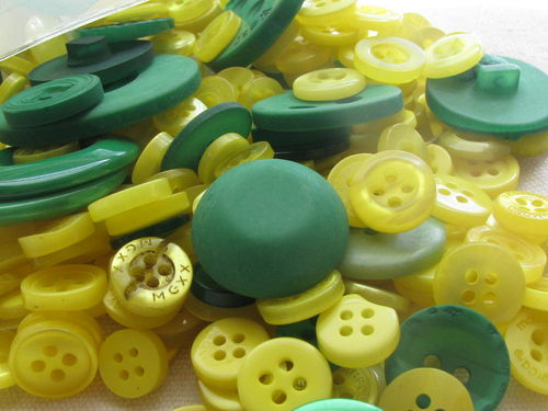Button mix, green and yellow tones - Green/Yellow, 115g
