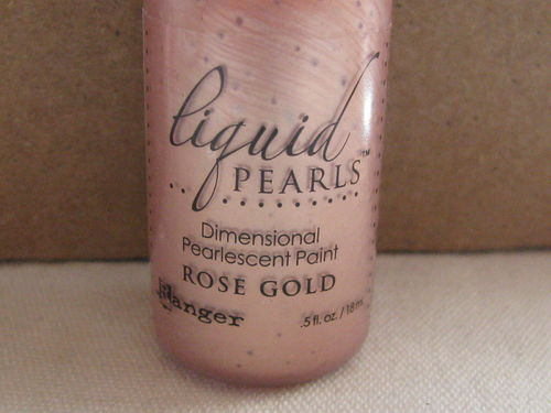 Liquid pearls, dimensional paint, rose gold, 18ml