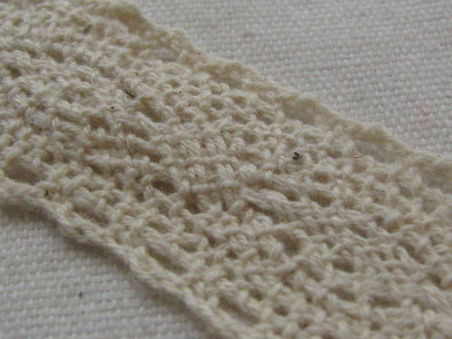 Lace, 23mm wide, natural white, 2.5m