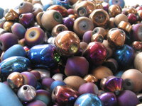 Metal shine glass beads