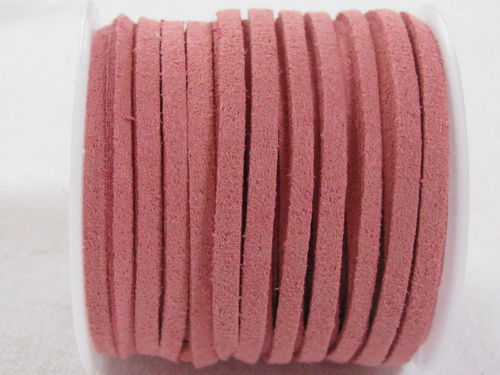 Faux suede, 3mm, pale pink, 5m