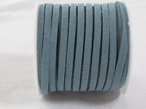 Faux suede, 3mm, pale blue, 5m