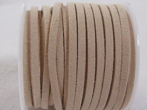 Faux suede, 3mm, wheat, 5m