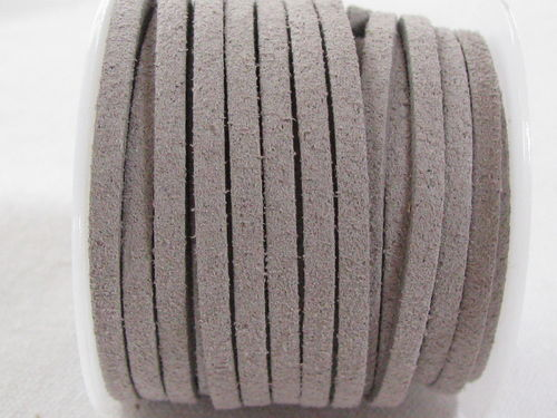 Faux suede, 3mm, grey, 5m