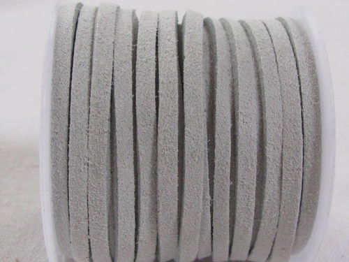 Faux suede, 3mm, light grey, 5m