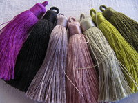 Polyester tassel 70mm with loop