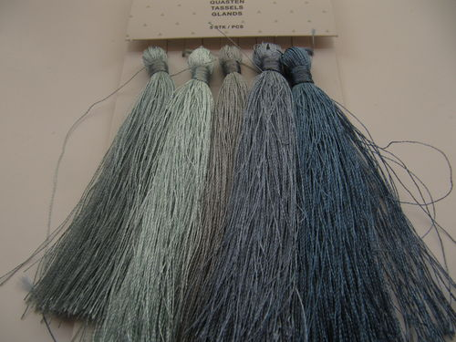 Tassel paket, 90mm, blues, 5 pcs