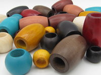 Big hole wooden beads