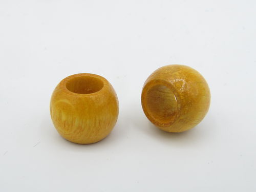Wood, big hole, 14x11mm, yellow, 1 pcs