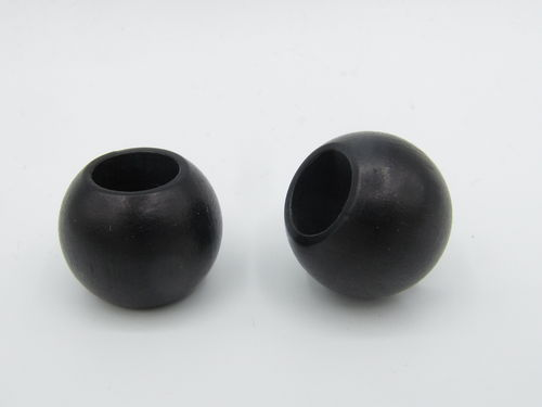 Wood, big hole, 20x16mm, black, 1 pcs